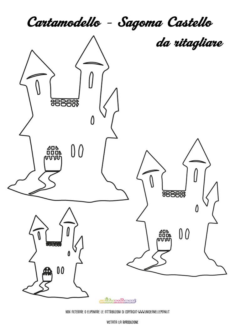 Sagoma castelli da stampare ritagliare e colorare for Disegni da stampare colorare e ritagliare