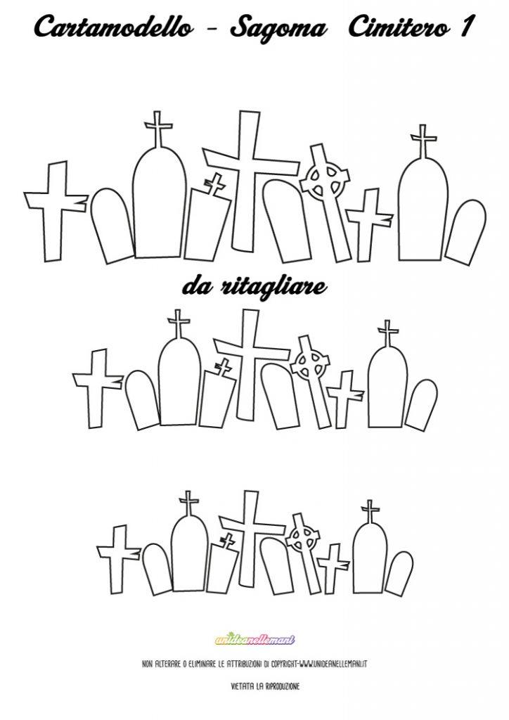 sagome halloween, sagome tombe, sagoma cimitero