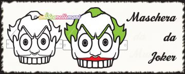 Maschera da Joker da stampare e da colorare