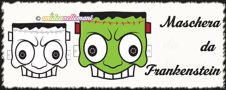 maschere halloween, maschere frankenstein, maschera frankenstein da colorare, maschera frankenstein da stampare