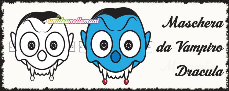 maschere vampiro, maschera vampiro da colorare, maschera vampiro da stampare