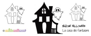 Sagoma Casa dei Fantasmi da stampare, ritagliare e colorare