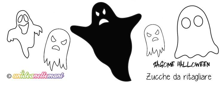 sagome fantasmi, sagome fantasmi da stampare, sagome fantasmi da colorare, sagome fantasmi da ritagliare, sagome Halloween,