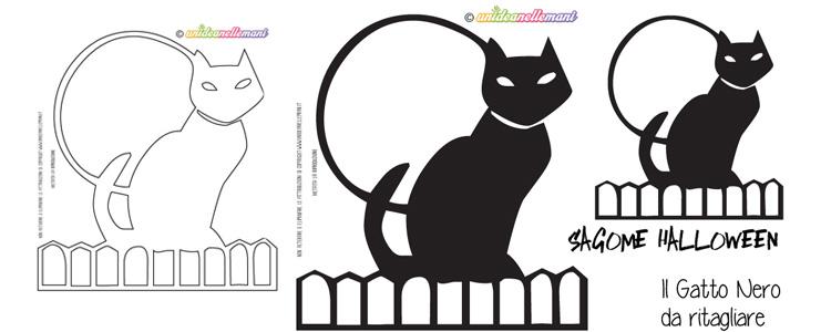 sagoma gatto, sagoma gatto nero, sagoma gatto halloween