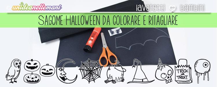 Disegni Di Halloween Facili.Tante Sagome Di Halloween Da Ritagliare E Colorare