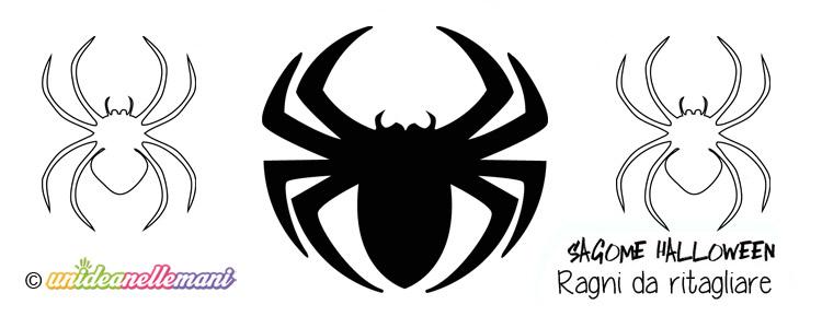 sagome ragni, disegni ragni halloween, disegni ragni da colorare,