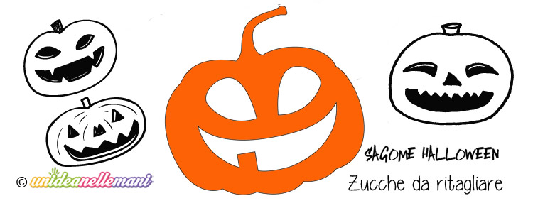Sagome zucca da stampare colorare e ritagliare for Immagini zucca di halloween