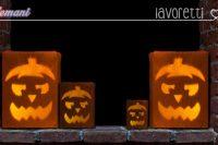 zucca di halloween luminosa finta