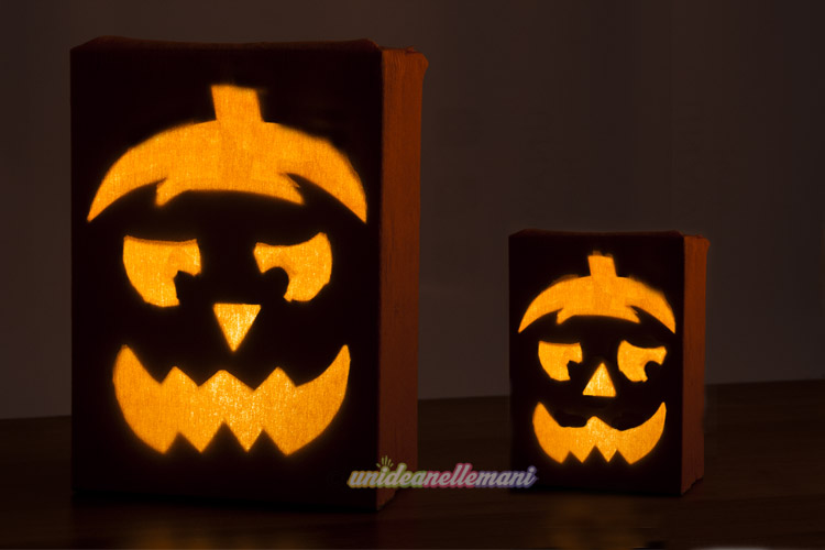 zucche-halloween-luminose-finte-di-carta