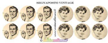Segnaposto da stampare e personalizzare in stile Vintage