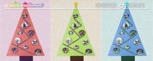 alberi di natale di carta, alberi di natale per bambini