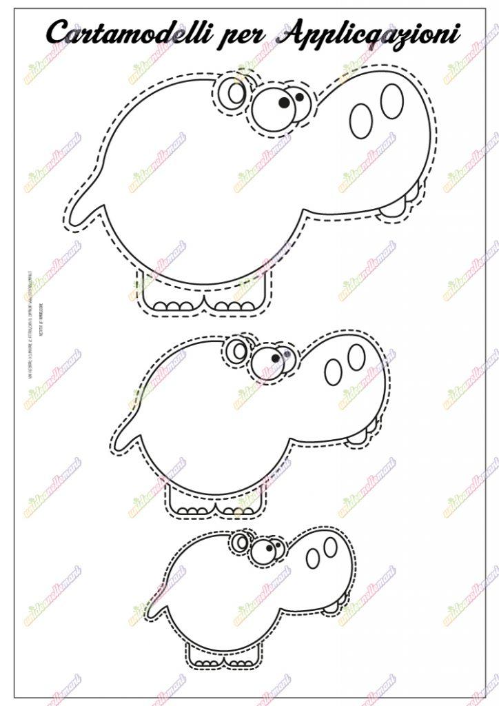 cartamodello ippopotamo