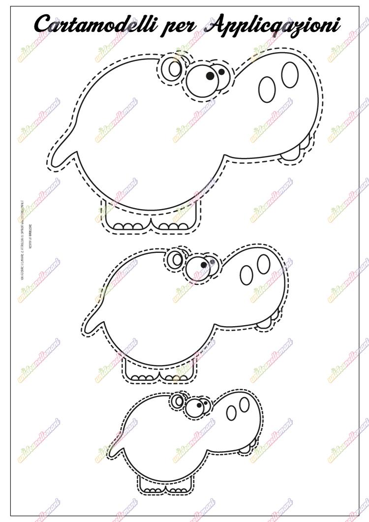 cartamodelli animali feltro da