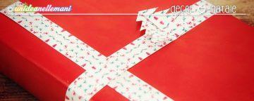 Chiudipacco di Natale fai da te a fascia con chiusura ad inc...