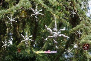 decorazioni natale alluminio, stelle natale alluminio, decorazioni natalizie da appendere,