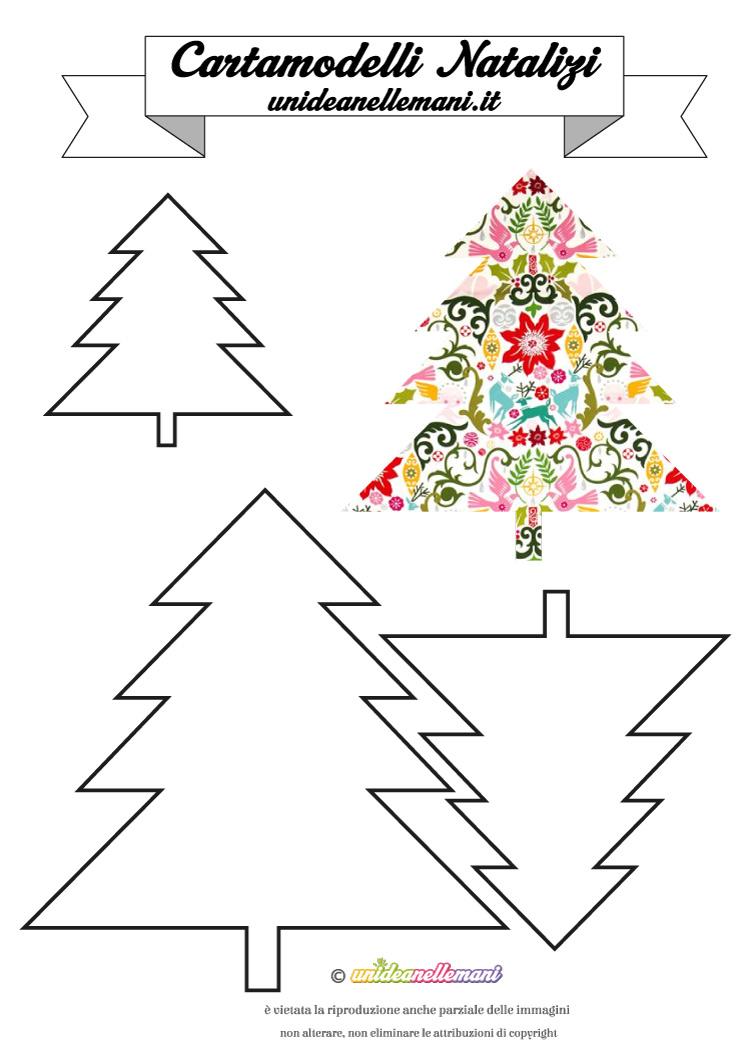 Popolare Cartamodelli Natalizi: cartamodello Albero di Natale Classico #10 YX67