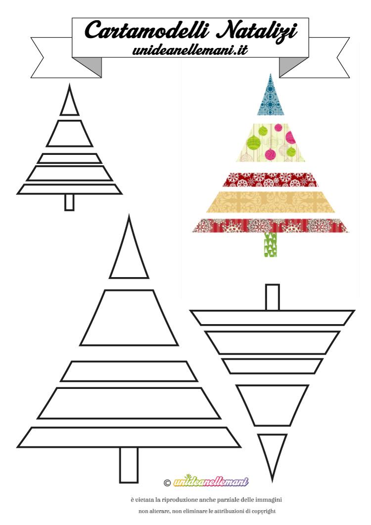 Molto Cartamodelli Natalizi: cartamodello Albero di Natale a Strisce #9 AJ25