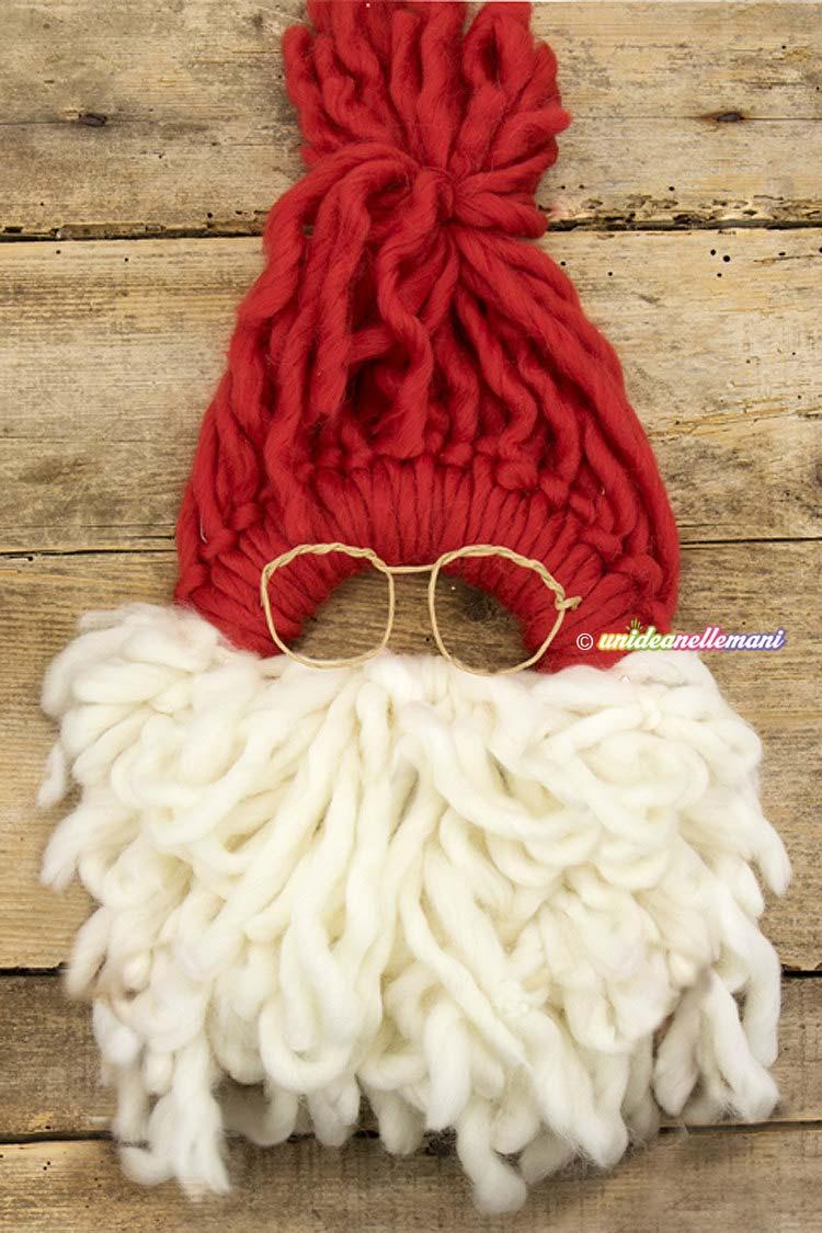 Lavoretti Di Natale Con La Lana.Come Creare Un Originale Fuoriporta Di Natale Video Tutorial