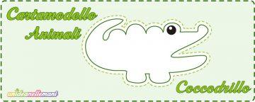 Cartamodello Coccodrillo da stampare
