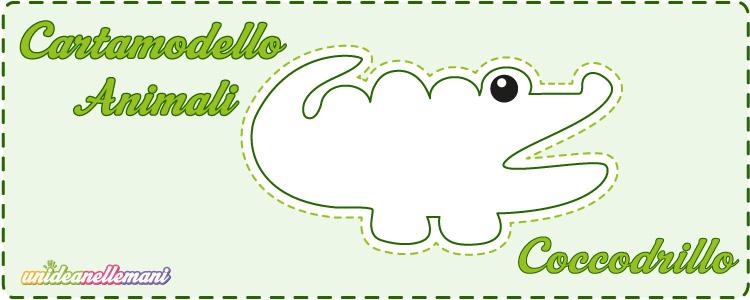 cartamodello coccodrillo
