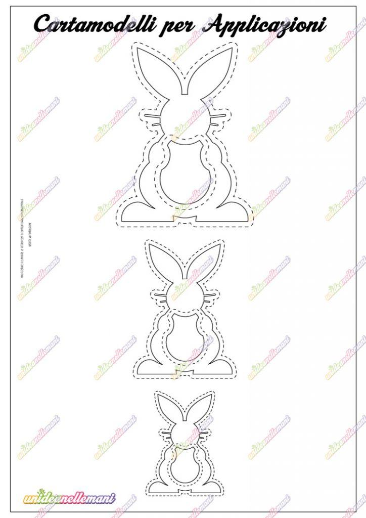 cartamodello coniglio
