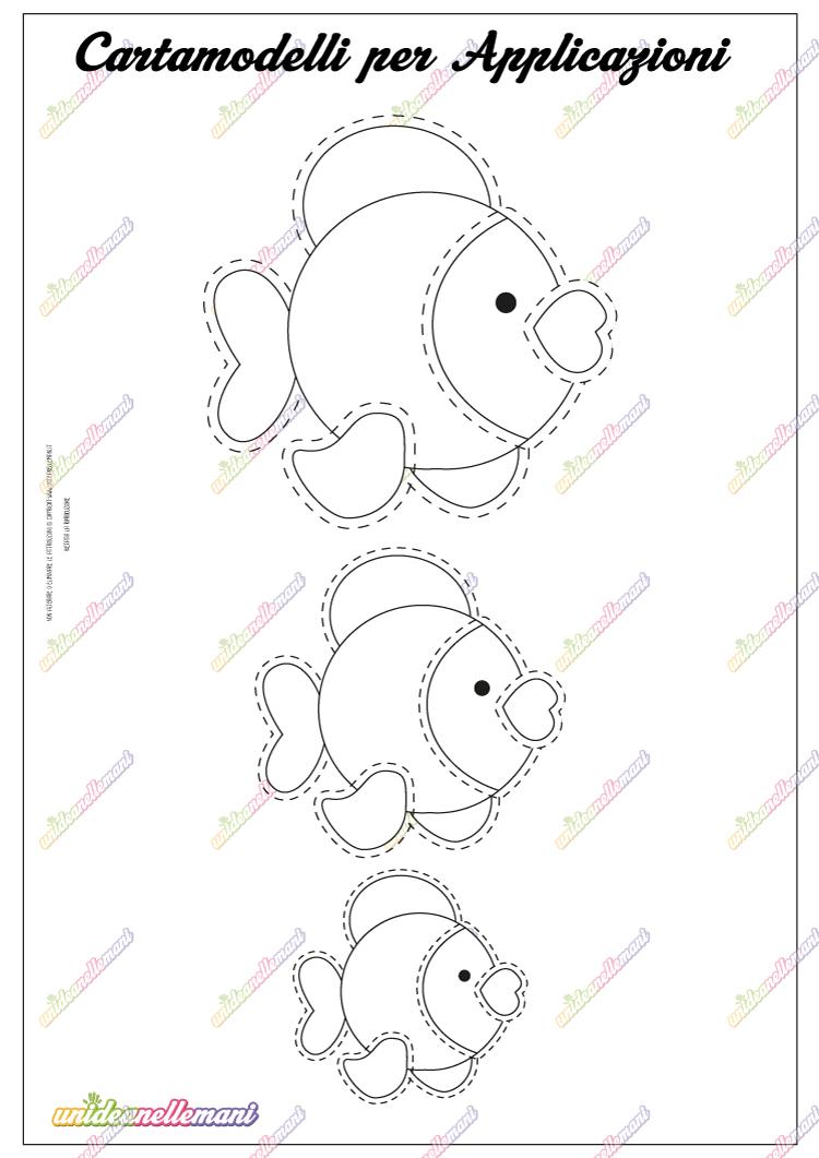 Cartamodello pesciolino da stampare for Pesciolini da colorare per bambini