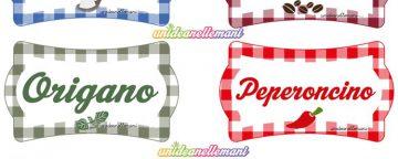 Etichette da stampare: origano e peperoncino