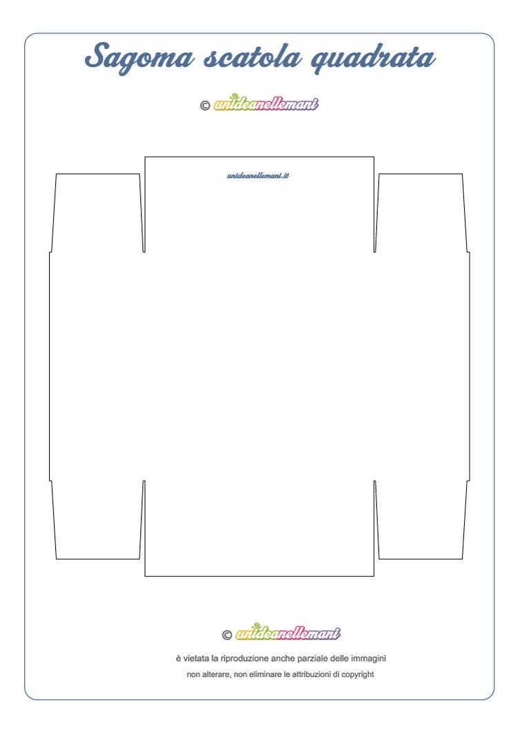 sagoma quadrata scatola da stampare