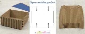 Sagoma scatolina quadrata-Schema da stampare