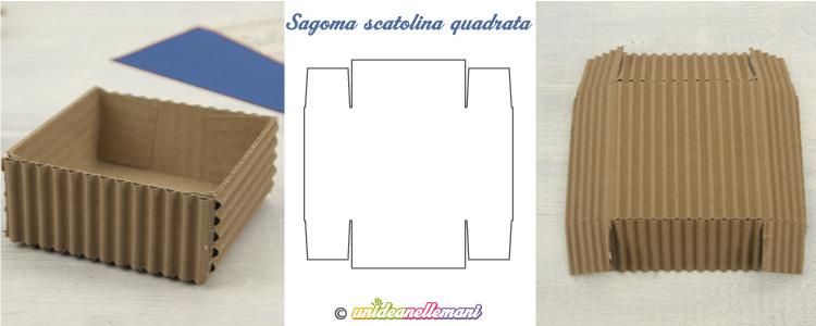 sagoma scatola quadrata da stampare