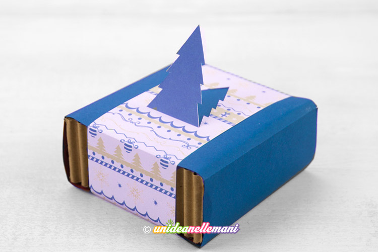 scatolina di cartone fai da te natalizia