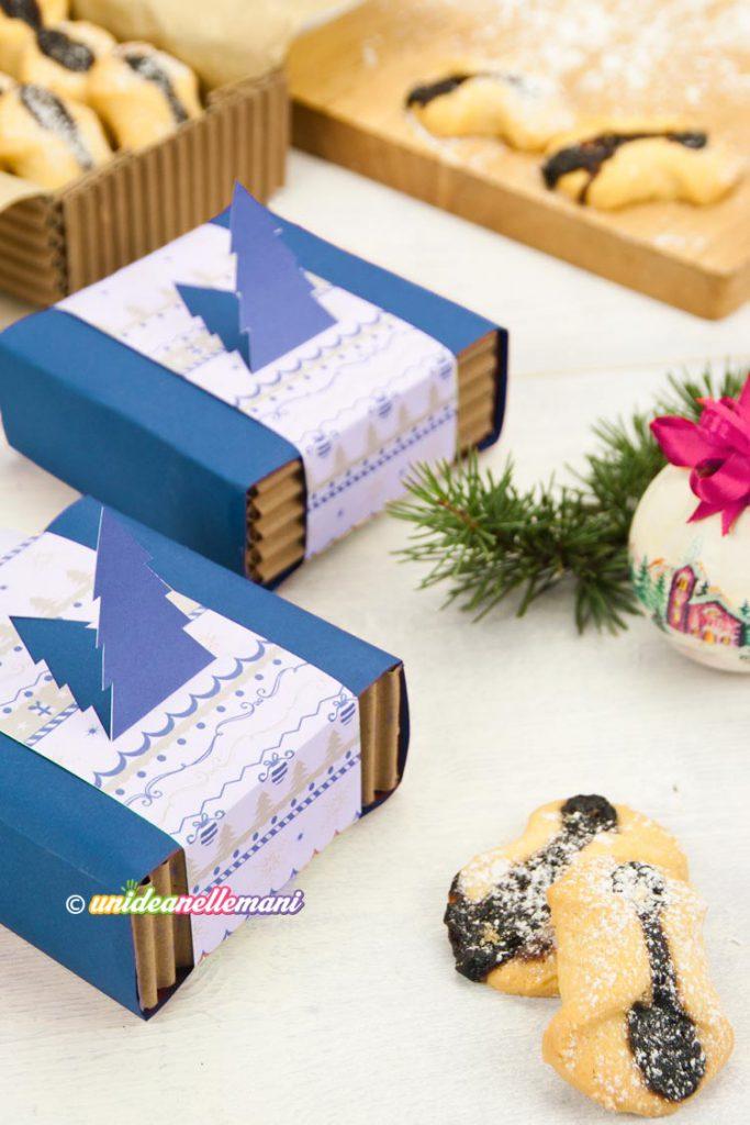 scatoline di cartone fai da te confezionare biscotti