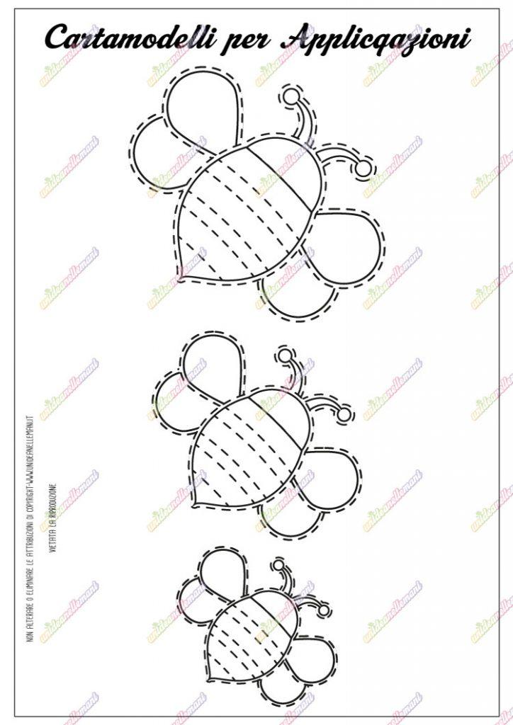 cartamodello ape da stampare
