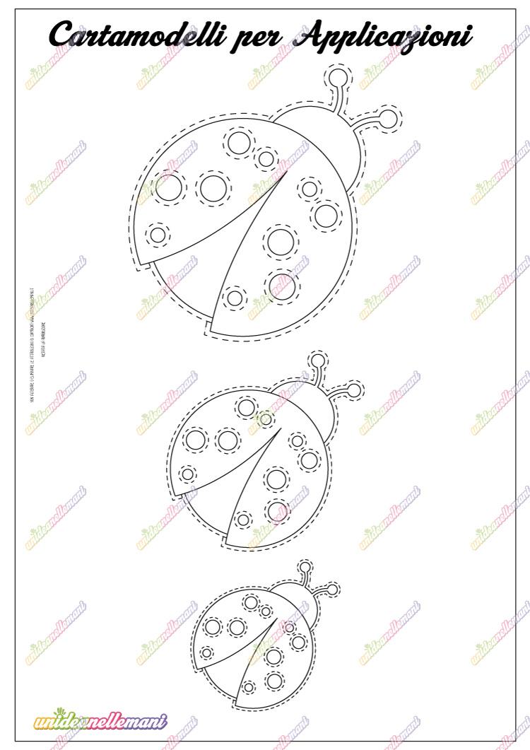 cartamodello coccinella da stampare