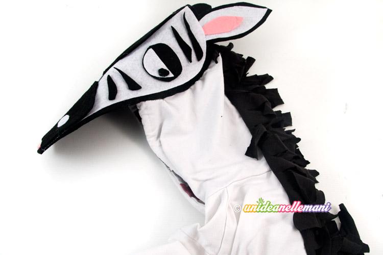 costume di carnevale da zebra