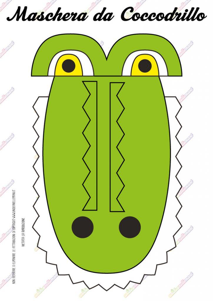 cartamodello maschera da coccodrillo