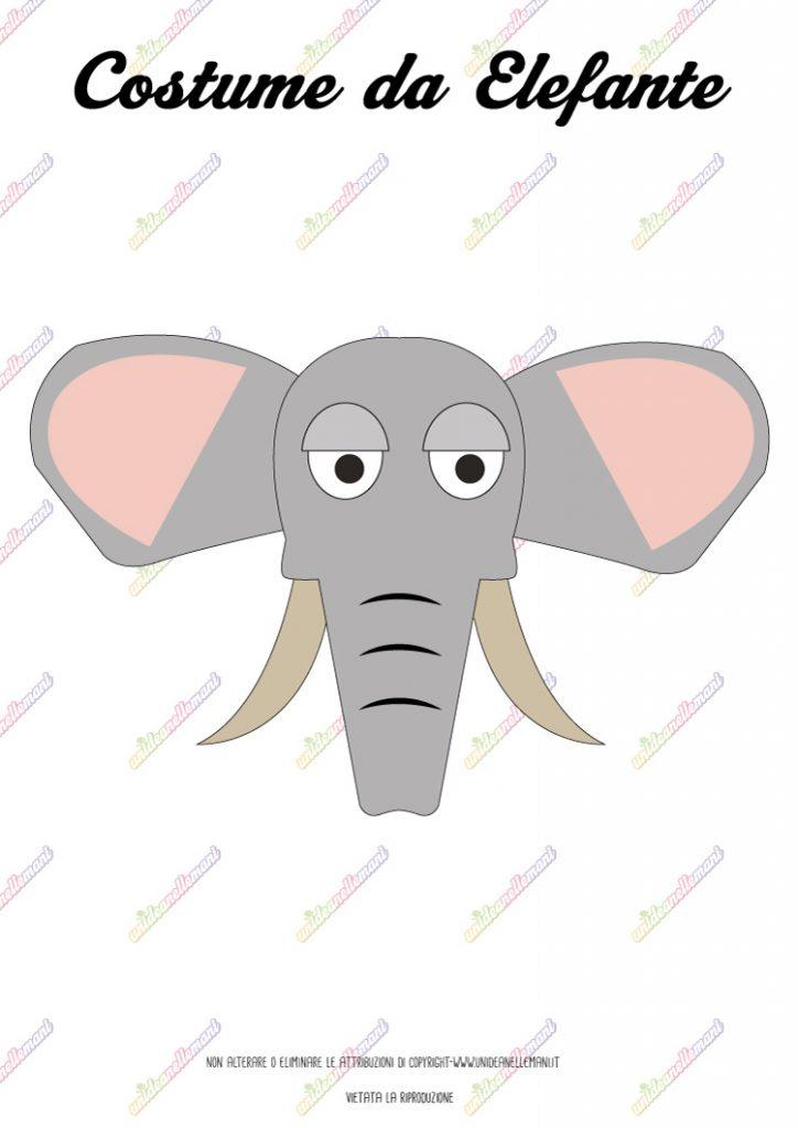 cartamodello maschera da elefante da stampare