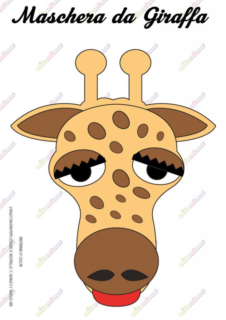 maschera da giraffa