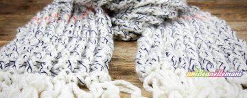 sciarpa uncinetto maglia alta