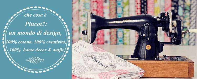 pincot tessuti americani e macchina da cucire