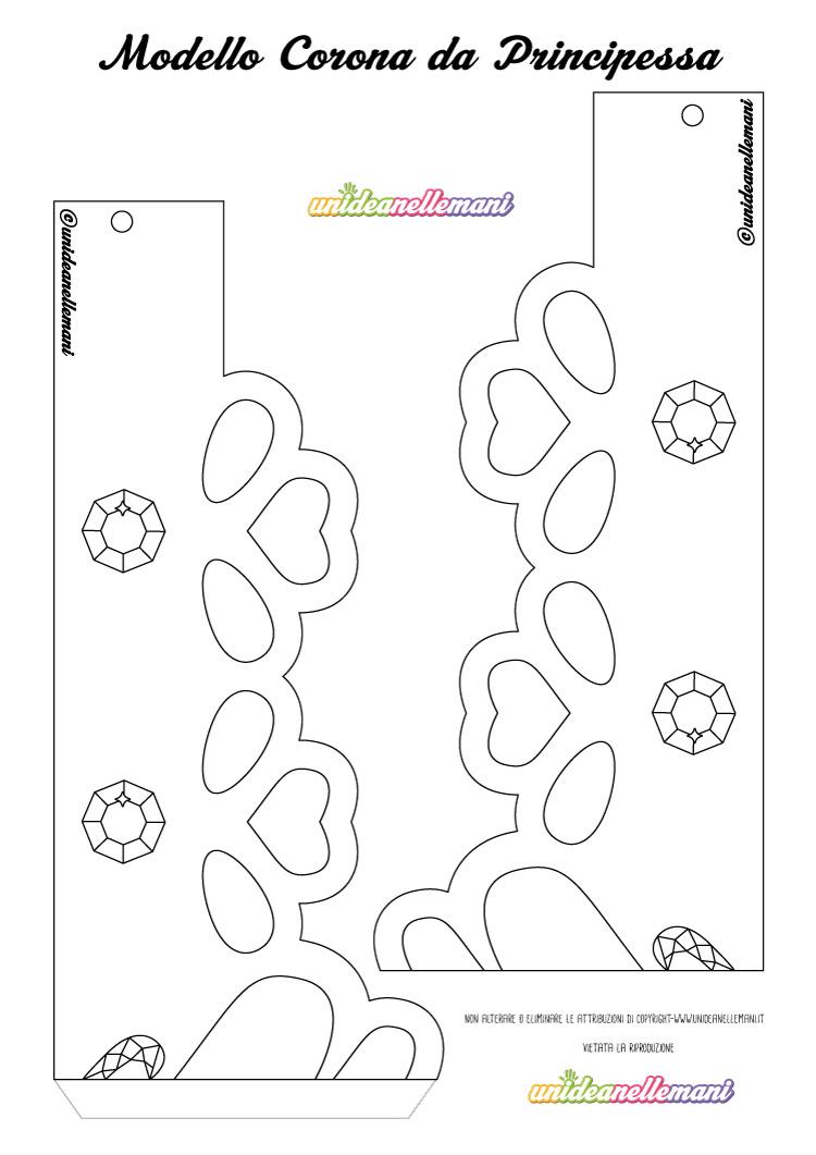 Disegno corona da principessa da stampare ritagliare - Modelli di colorazione per bambini ...