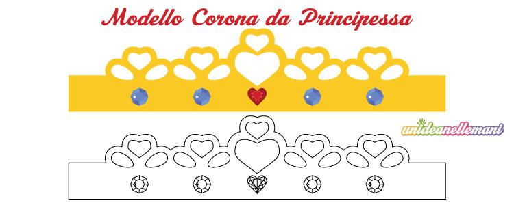 Disegno Corona Da Principessa Da Stampare Ritagliare Colorare