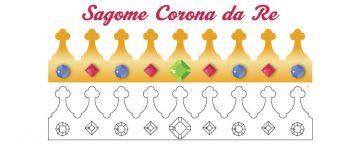 Disegno corona da re da stampare, ritagliare, colorare