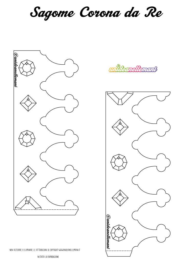 Disegno corona da re da stampare ritagliare colorare for Disegno terra da colorare