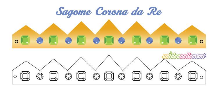 Sagome Corona Da Re Da Stampare Ritagliare Colorare