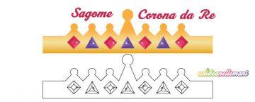 Modelli corona da Re da stampare, ritagliare, colorare