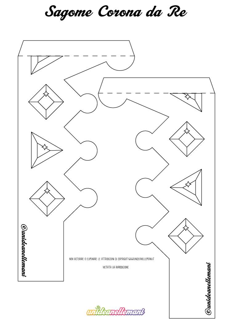 Modelli corona da re da stampare ritagliare colorare - Modelli di ghirlanda stampabili ...