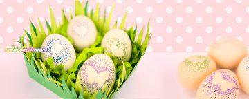Come decorare le uova di Pasqua a mano senza sporcare
