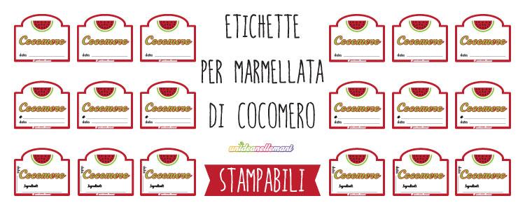 etichette marmellata di cocomero
