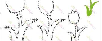 Cartamodello sagoma di Tulipano per lavoretti creativi